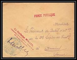 2881 Lettre France Guerre 1914/1918 56ème Division D'infanterie Capitaine Muller Gendarmerie - Oorlog 1914-18