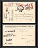 6438/ Lettre (cover) France Guerre 1914/1918 à étudier Trésor Et Postes Carte Militaire Tué à L'ennemi - Guerra De 1914-18