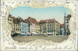 AK Pforzheim Marktplatz (8-438) - Pforzheim