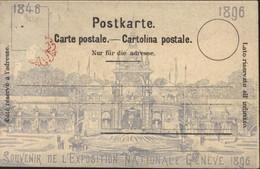 Suisse CPA Souvenir De L'exposition Nationale Genève 1846 1896 Souvenir De Genève - GE Geneva