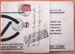 Portugal - NEWSPAPER TAX - Oliveira De Azemeis 1951 - Festa De Confraternização Do Centro Vidreiro - Briefe U. Dokumente