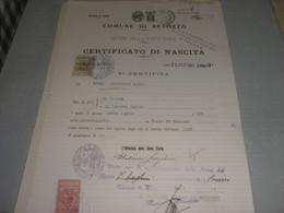 DOCUMENTO COMUNE DI BESOZZO 1931 CON MARCA MUNICIPALE - Historical Documents