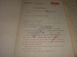DOCUMENTO COMUNE DI PORTO VALTRAVAGLIA 1939 CON MARCA MUNICIPALE - Documenti Storici