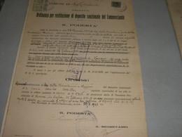 DOCUMENTO COMUNE SESTO CALENDE 1933 CON MARCHE MUNICIPALI - Documenti Storici