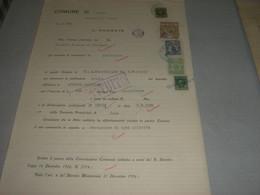 DOCUMENTO COMUNE LUINO CON MARCHE MUNICIPALI - Documenti Storici