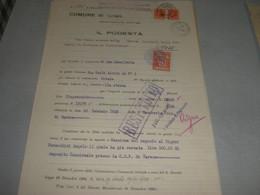 DOCUMENTO COMUNE DI GAVIRATE CON MARCA MUNICIPALE - Documenti Storici