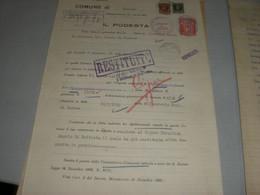 DOCUMENTO COMUNE DI BESOZZO 1936 CON MARCA MUNICIPALE - Historical Documents