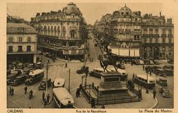 ORLEANS - Rue De La République - Nombreux Bus Et Voitures - Orleans