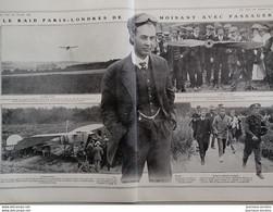 1910 AVIATION - LE RAID PARIS = LONDRES PAR LES AIRS -  JOHN MOISANT AVEC PASSAGER - 1900 - 1949