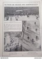 1910 LE TOUR DE FRANCE CYCLISTE DES INDÉPENDANTS ORGANISÉ PAR LA MAISON PEUGEOT - MONTPELLIER - BORDEAUX - LA ROCHELLE - 1900 - 1949
