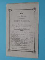 DP Joseph VEREECKE ( Coleta Van Compernolle ) Evergem - Gent 14 Mei 1870 In Den Ouderdom Van 42 Jaar ( Zie Foto's ) ! - Todesanzeige