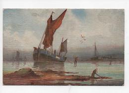 """Signée  R  Montague        -    """"  Sea  And  Sky  """"    -  Tuck  -  """"  Oilette  """" - Schilderijen"""