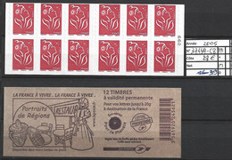 ANNEE 2005 SPLENDIDE LOT DE LUXE CARNET NON PLIER N° 3744A-C8 NEUF (**) CÔTE 28.00€ Y&T A SAISIR!!!!!! - Commemoratives