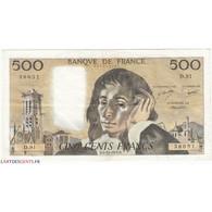 500 Francs PASCAL 05-10-1978 Fayette 71.18 - 500 F 1968-1993 ''Pascal''