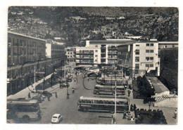Cassino (Italie, Lazio) : Vue Aérienne Générale Sur Le Quartier De La Place Labriola Avec Cars  En 1962 (animé) GF. - Andere Steden