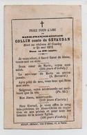 AVIS DE DECES DE 1873 - 58 - CHATEAU DE CONCLEY - MARIE FRANCOIS GUSTAVE COLLIN - COMTE DE GEVAUDAN - Avvisi Di Necrologio