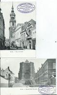 BELGIQUE - MONS - Lot De 2 C.P.A.( Pub REMY DUPUIS FRAMERIES) - Mons