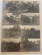 Lot De 8 Photos. Les Premiers Français à Rothau. Alsace. Aout 1914.  WW1. Militaire. Première Guerre Mondiale. Soldats. - Oorlog, Militair