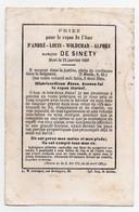 AVIS DECES 1868 - ANDRE LOUIS WOLDEMAR ALPHEE MARQUIS DE SINETY - MILITAIRE - COLONEL - Avvisi Di Necrologio