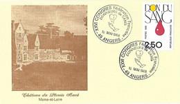 France - 1988 - Yvert 2528 - Don Du Sang - En Faveur - XXVI Congrès Donneurs - Angers 12 Mai 1988 - - Briefe U. Dokumente