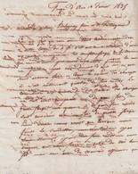 1835 FORGE D'ANS (24) - Lettre Commerciale Pour BORDEAUX Relative Aux Fers Forgés De La Marine - Documenti Storici