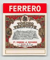 """BK12406 """" TORINO VERMOUTH-F.LLI FERRERO DI RICCARDO-TORINO """"ETICH. MIGNON D'EPOCA - Other"""