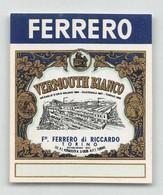 """BK12407 """" VERMOUTH BIANCO-F.LLI FERRERO DI RICCARDO-TORINO """"ETICH. MIGNON D'EPOCA - Other"""