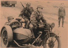 A6245- Motocycle, Soldiers Uniforms Equipment Soldiers Army WW2, 1942 Ostfront,GERMANY, Nazi Regim Panzer Division Stamp - War 1939-45