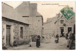 CPA 56 - SAINT GONERY (Morbihan) - Rue De Pontivy (animée) - Ed. Le Cunf - Altri Comuni
