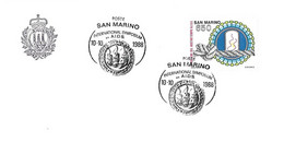 San Marin - Marino - Cad 10 10 1988 - A.I.D.S. SIDA - Yvert 1191 - Virus Et Noeud à La Corde - - Storia Postale