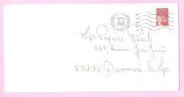 LUQUET - LA POSTE 1997 - Y&T N° 3085 - TVP Rouge Adh.Type I. Variété Barres PHO. Sur Lettre Prioritaire.TB. - Varieteiten: 2000-09 Brieven & Documenten