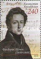 Kazakhstan, 2010, Mi 685, The 200th Anniversary Of The Birth Of Frederyk Chopin, 1v, MNH - Musica
