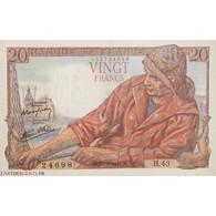 Billet 20 Francs Pêcheur 21-09-1942 SPL L'ART DES GENTS - 20 F 1942-1950 ''Pêcheur''