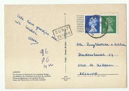 CP Affr. 5 Centimes G. TELL De ZURICH30-IV-1908 Vers Anvers + Griffe LANGNAU (zürich)- 16096 - Covers & Documents