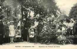 Ruffec * 18 Septembre 1921 , Exposition Des Voitures Des Bébés * Landau Poussette - Ruffec