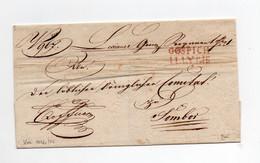 !!! DEPT CONQUIS, MARQUE POSTALE DE GOSPICH, ILLYRIE SUR LETTRE SANS TEXTE - 1792-1815: Veroverde Departementen