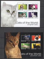H994 2011 NEVIS FAUNA PETS CATS OF THE WORLD 2KB MNH - Domestic Cats