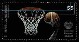 Argentinien 2008,Michel# 3236 O  Basketball, Argentinische Sportidole, Emanuel Ginóbili (*1977) - Gebraucht