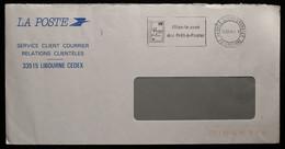 33 - Libourne Flamme En Franchise Des Postes Service Courrier - Dites Le Avec Des Prêts à Poster 1998 - Altri