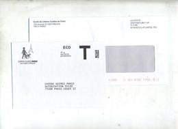 Lettre Reponse T Chien Guide Paris + Destineo - Cartas/Sobre De Respuesta T