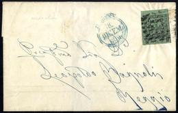 Cover 1856, Lettera Da Modena Il 18.12. Per Reggio Affrancata Con 5 C. Verde Oliva Con Punto Dopo Le Cifre E Bordo Di Fo - Modena