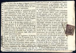 """Cover 1853, Giornale Gazzetta Ufficiale Di Milano Del 23.5.1853 Affrancato In Arrivo Con Segnatasse Per Giornali 9 C. """"B - Modena"""