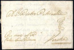 """Cover 1699, Lettera Da Bari Il 2.10 Per Venezia, Annotato """"Per Nave Col Par. Felice Sauro Padovano"""" - Napels"""