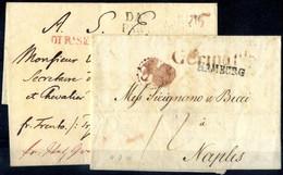 Cover 1800/24, Due Lettere Per Napoli, Una Da Slagelse (Danimarca) Il 9.6.1824 Timbro DANEMARCK PAR HAMBOURG E DI R.SERV - Napels