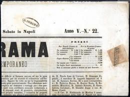 """Cover 1860, Giornale Intero """"Il Diorama"""" Del 17.3.1860 Affrancato Con 1/2 Grano Rosa Chiaro I Tavola, Buoni Margini E Ma - Napels"""