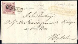 Cover 1858, Lettera Del 26.2.1858 Da Campobasso A Napoli, Affrancato Con 2 Grana Lilla Rosa Intenso, Ampi Margini, Nitid - Napels
