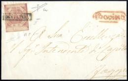 Cover 1858, Lettera (le Parti Laterali Mancanti) Da Bovino A Foggia, Affrancata Con 2 Gr. Rosa Lillaceo II Tavola Con Bo - Napels