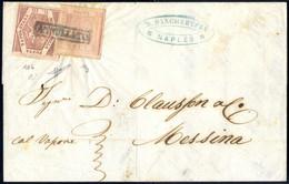 Cover 1859, Lettera Del 2.3.1859 Da Napoli A Messina, Affrancata Per Il Trasporto Col Vapore (indicazione Manoscritta) C - Napels