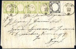 Cover 1862, Lettera Completa Del Testo Del 22.9.1862 Da Oria A Napoli, Affrancata Con Una Striscia Orizzontale Di Quattr - Napels