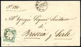 Cover 1862, Lettera Da Napoli Il 15.7. Affrancata Con ½ Tornese Verde Scuro Delle Province Napoletane, Firmato ED, Sass. - Napels
